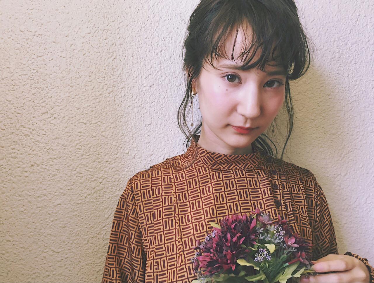 前髪あり 大人かわいい ミディアム 小顔 ヘアスタイルや髪型の写真・画像 | 冨永 真太郎 / 人トナリ