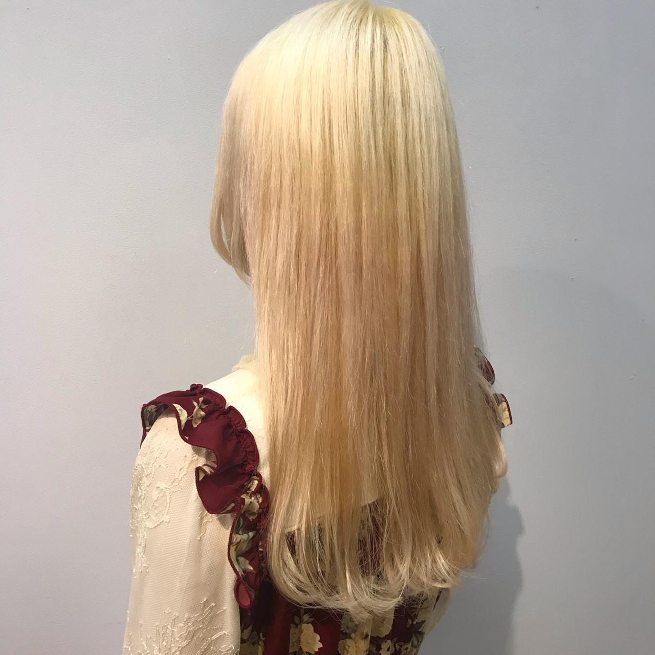 韓国ヘア 韓国 金髪 ロング ヘアスタイルや髪型の写真・画像