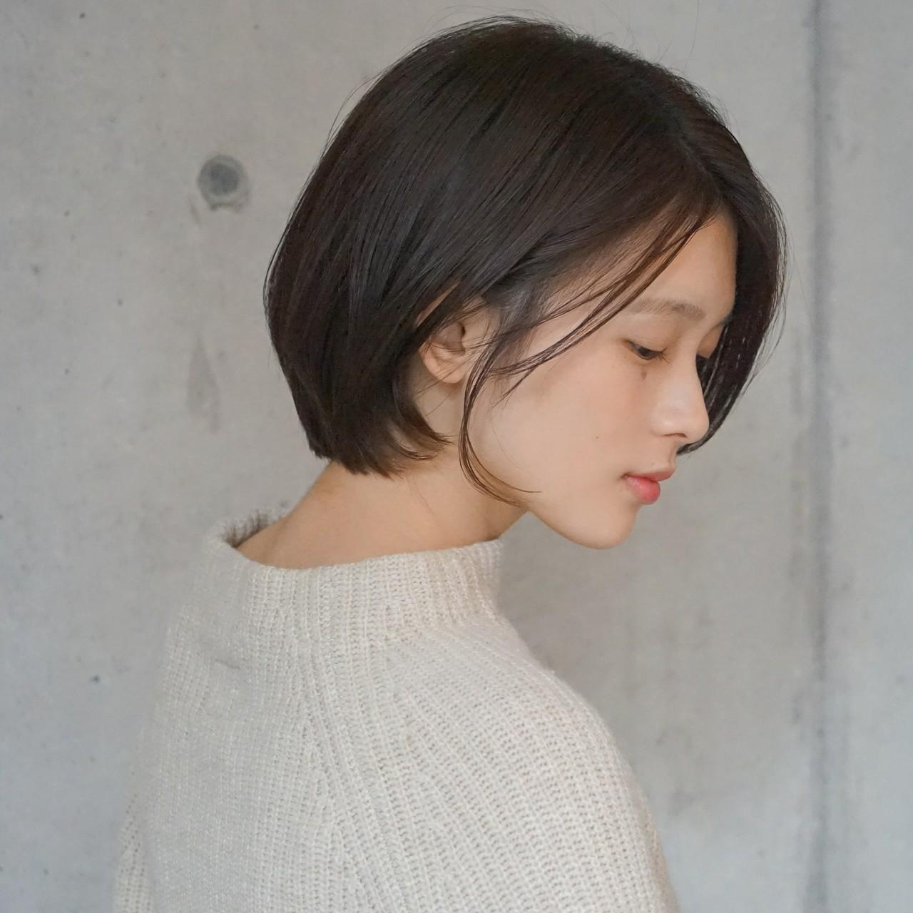 小顔 ショートボブ ショート 透明感 ヘアスタイルや髪型の写真・画像 | タカハシ アヤミ / trail by ROVER