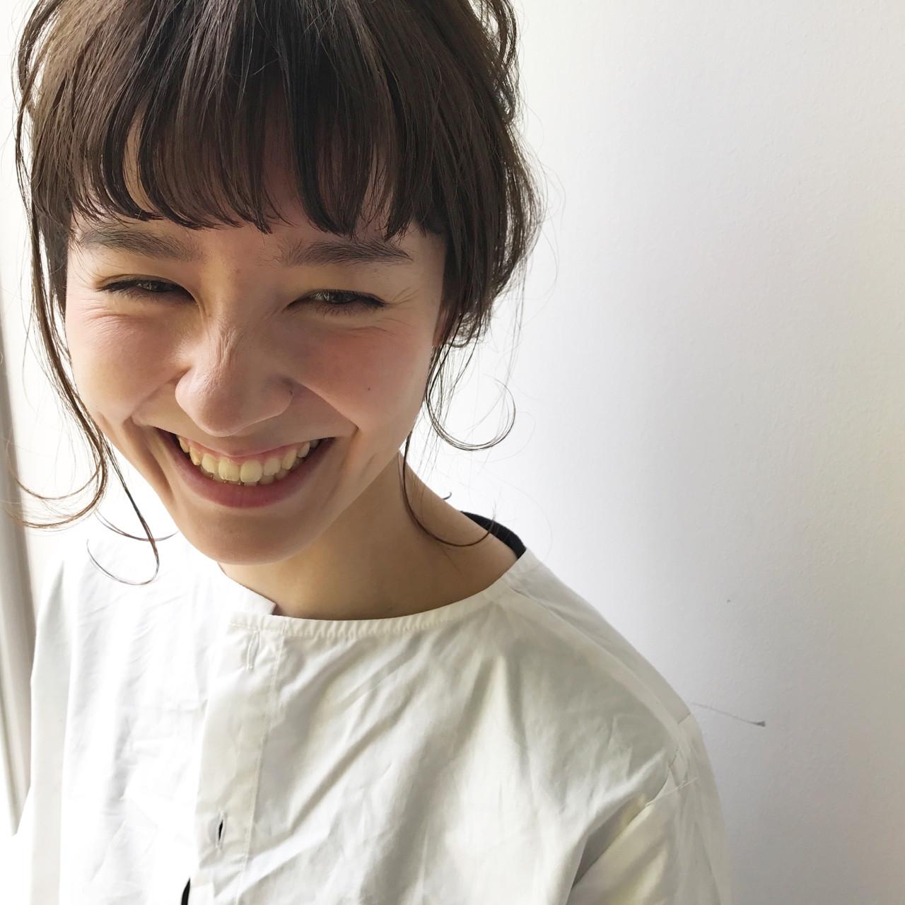 デート ウェーブ アンニュイ ミディアム ヘアスタイルや髪型の写真・画像