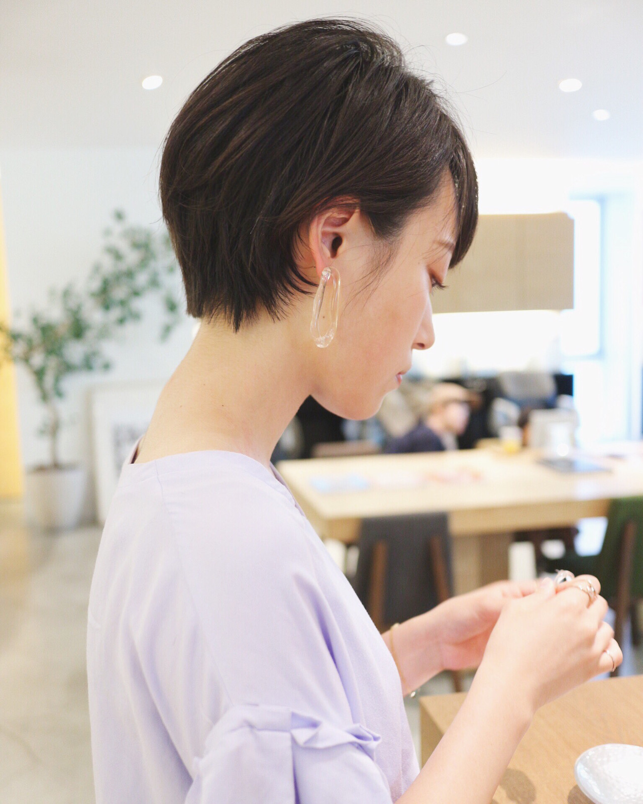 オフィス 黒髪 黒髪ショート ナチュラル ヘアスタイルや髪型の写真・画像 | 三好 佳奈美 / Baco.(バコ)