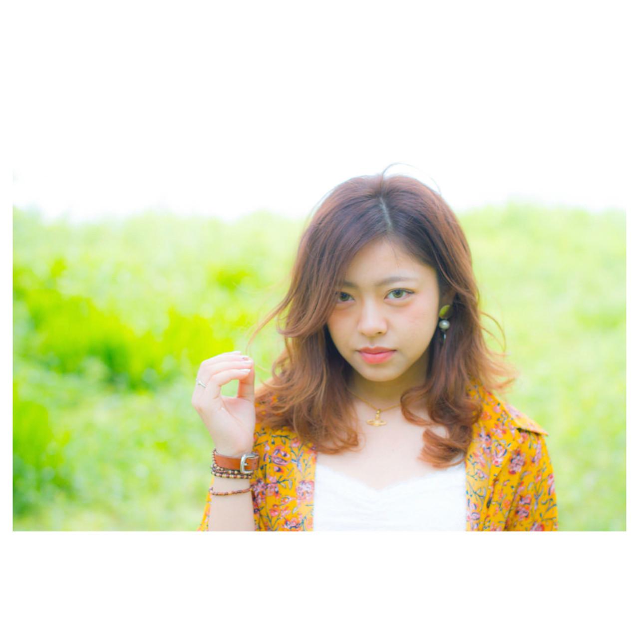 アウトドア 斜め前髪 デート リラックス ヘアスタイルや髪型の写真・画像   岩切陽平 / Hair&Beauty AURA