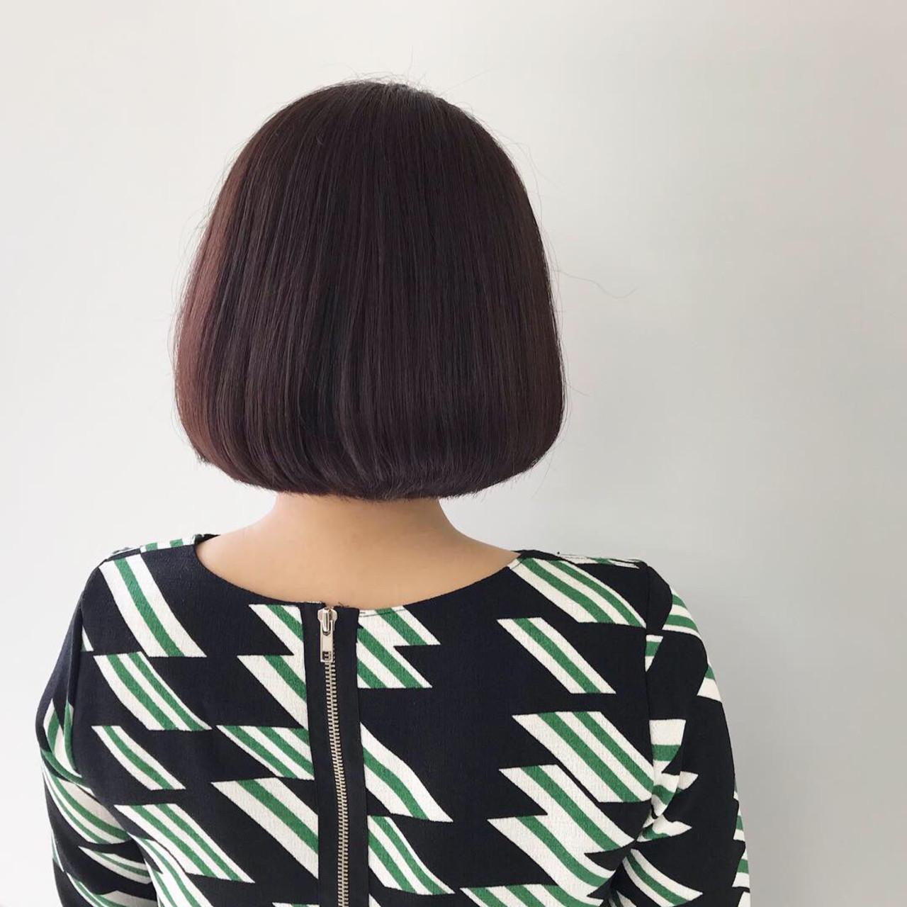 簡単ヘアアレンジ 切りっぱなしボブ ミニボブ ナチュラル ヘアスタイルや髪型の写真・画像 | 新谷 朋宏 / Free hairstylist shinya