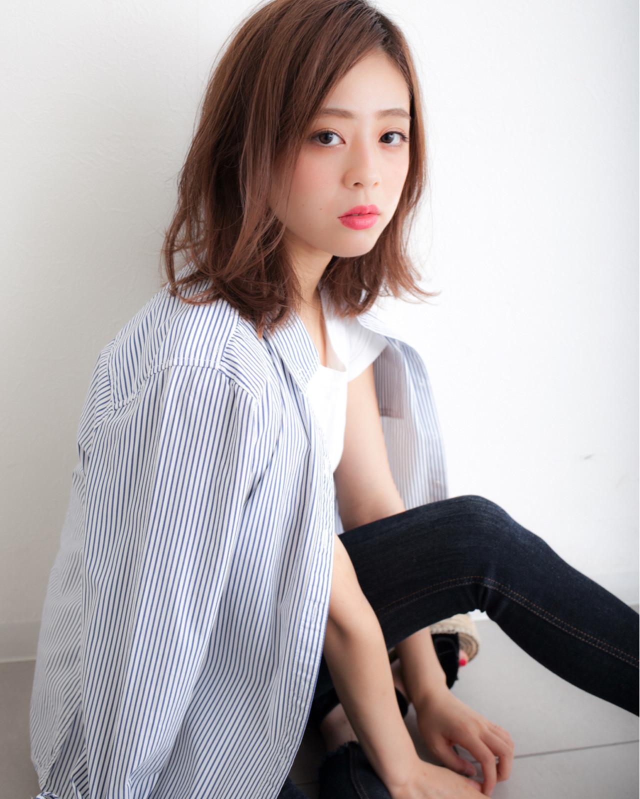 パーマ ナチュラル ゆるふわ ミディアム ヘアスタイルや髪型の写真・画像 | 高田 紘希 / Rr hair salon