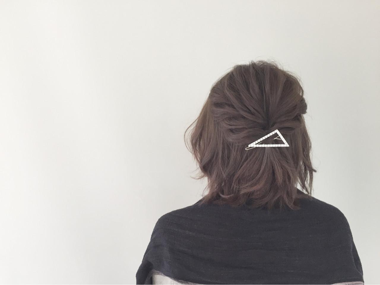 ボブ ショート 簡単ヘアアレンジ 色気 ヘアスタイルや髪型の写真・画像 | 新谷 朋宏 / Free hairstylist shinya