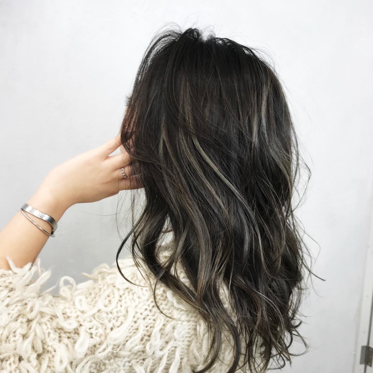 アッシュ ロング 女子力 秋 ヘアスタイルや髪型の写真・画像 | クロサワ / LUFE byKENJE
