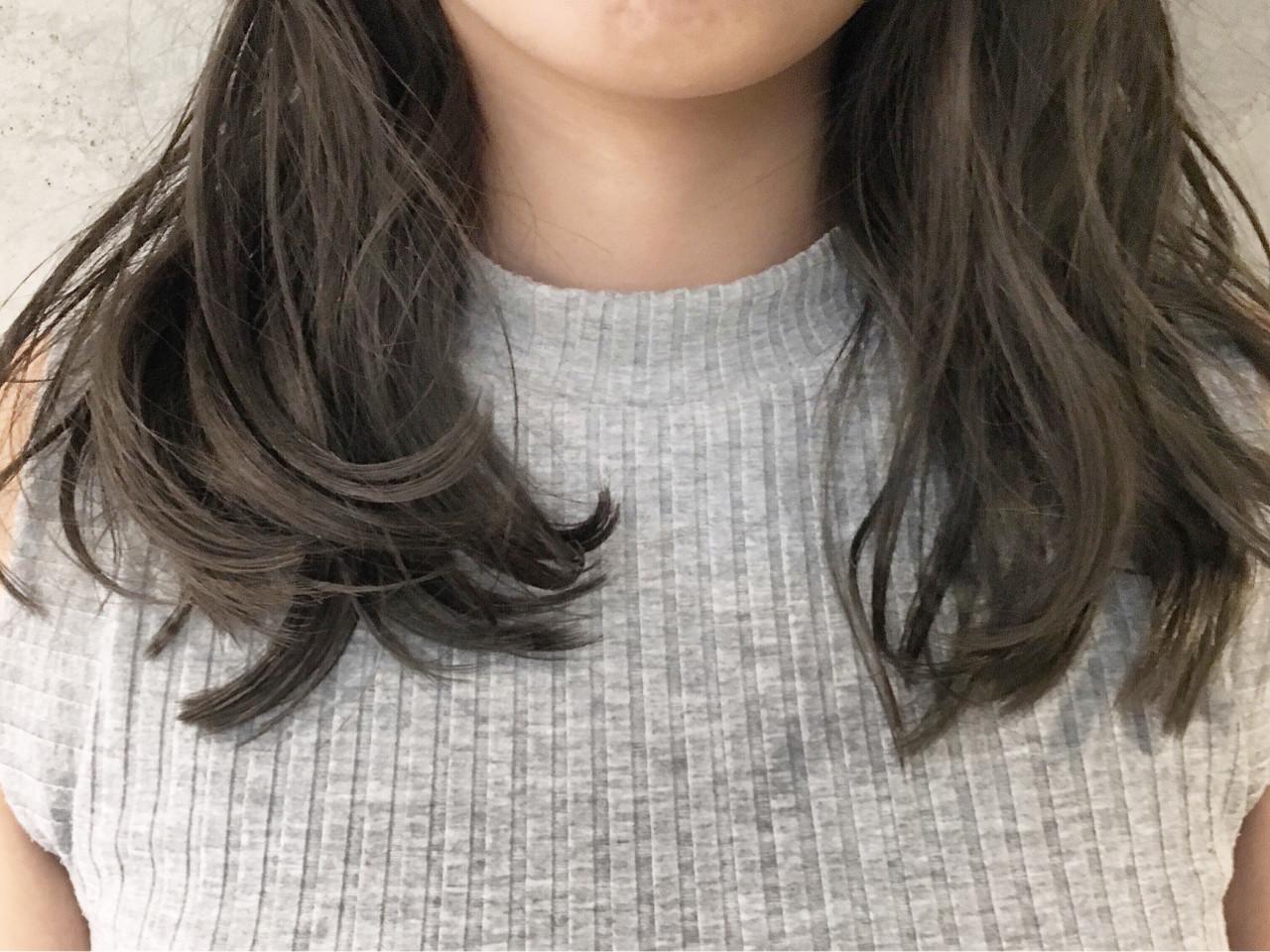 アッシュ 外国人風 グラデーションカラー ゆるふわ ヘアスタイルや髪型の写真・画像 | Sayaka / diptyMOILA