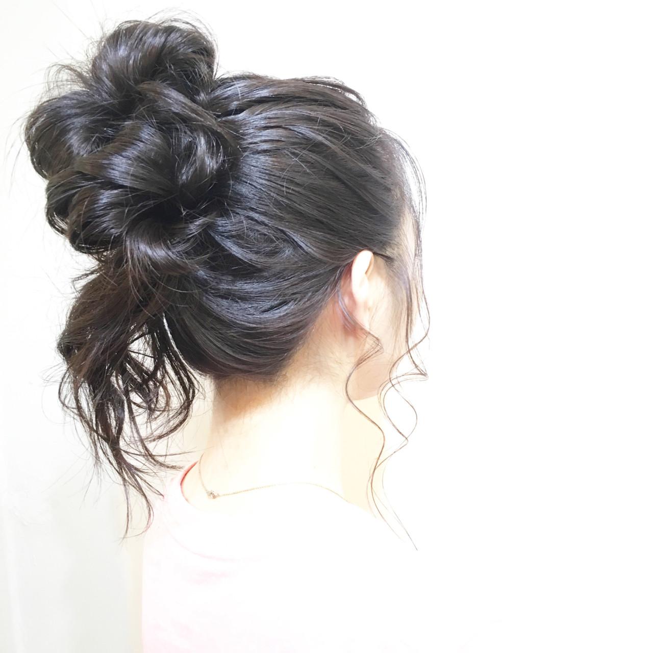 ショート 編み込み ミディアム ヘアアレンジ ヘアスタイルや髪型の写真・画像 | COM PASS タイチ / COM PASS