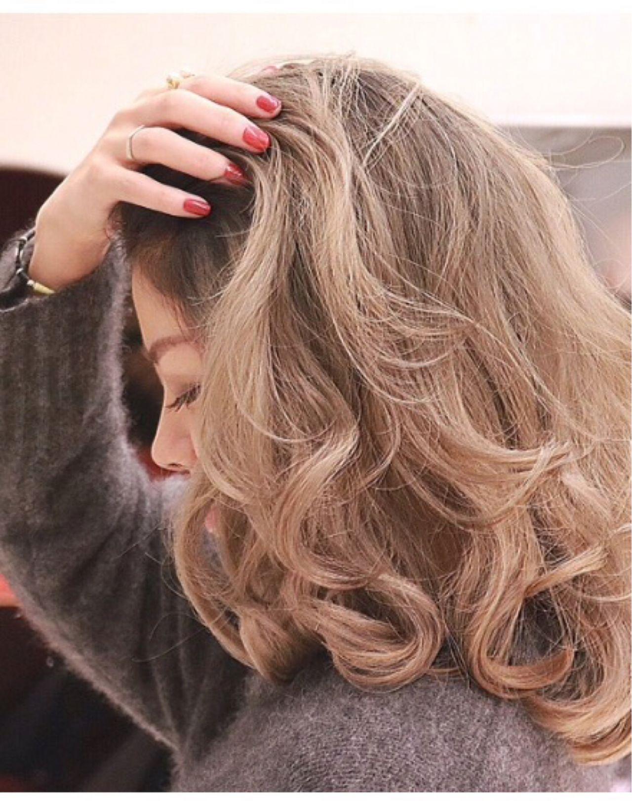 ハイトーン ミディアム 外国人風 ストリート ヘアスタイルや髪型の写真・画像