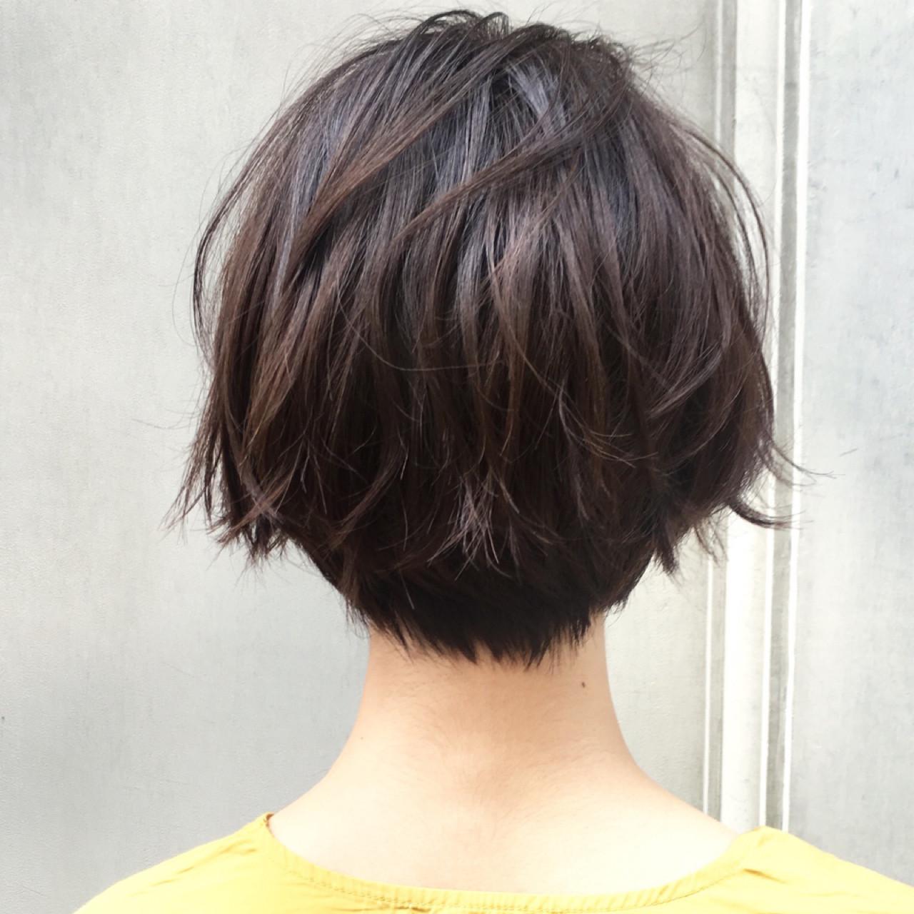 オフィス ナチュラル デート ショート ヘアスタイルや髪型の写真・画像 | ショートボブの匠【 山内大成 】『i.hair』 / 『 i. 』 omotesando