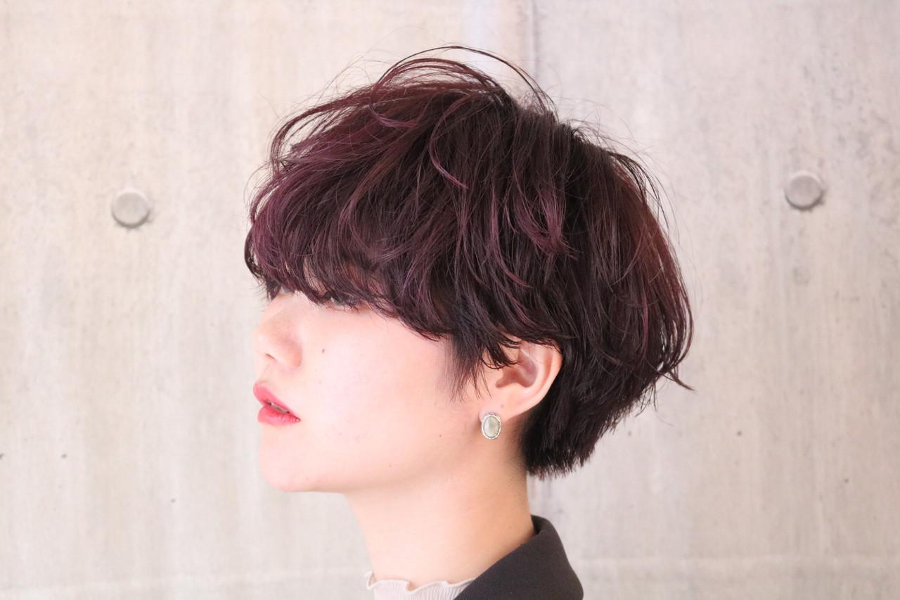 大人かわいい アンニュイほつれヘア マッシュショート ナチュラル ヘアスタイルや髪型の写真・画像