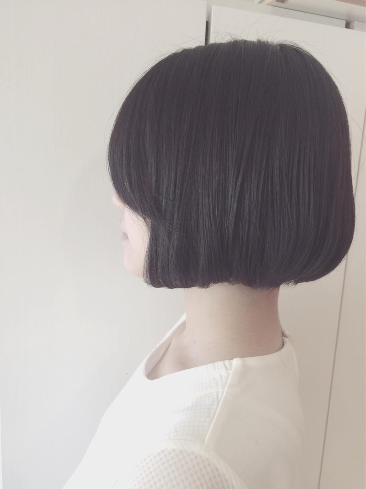 黒髪 ナチュラル ワンレングス ボブ ヘアスタイルや髪型の写真・画像 | 小林進 / neolive square