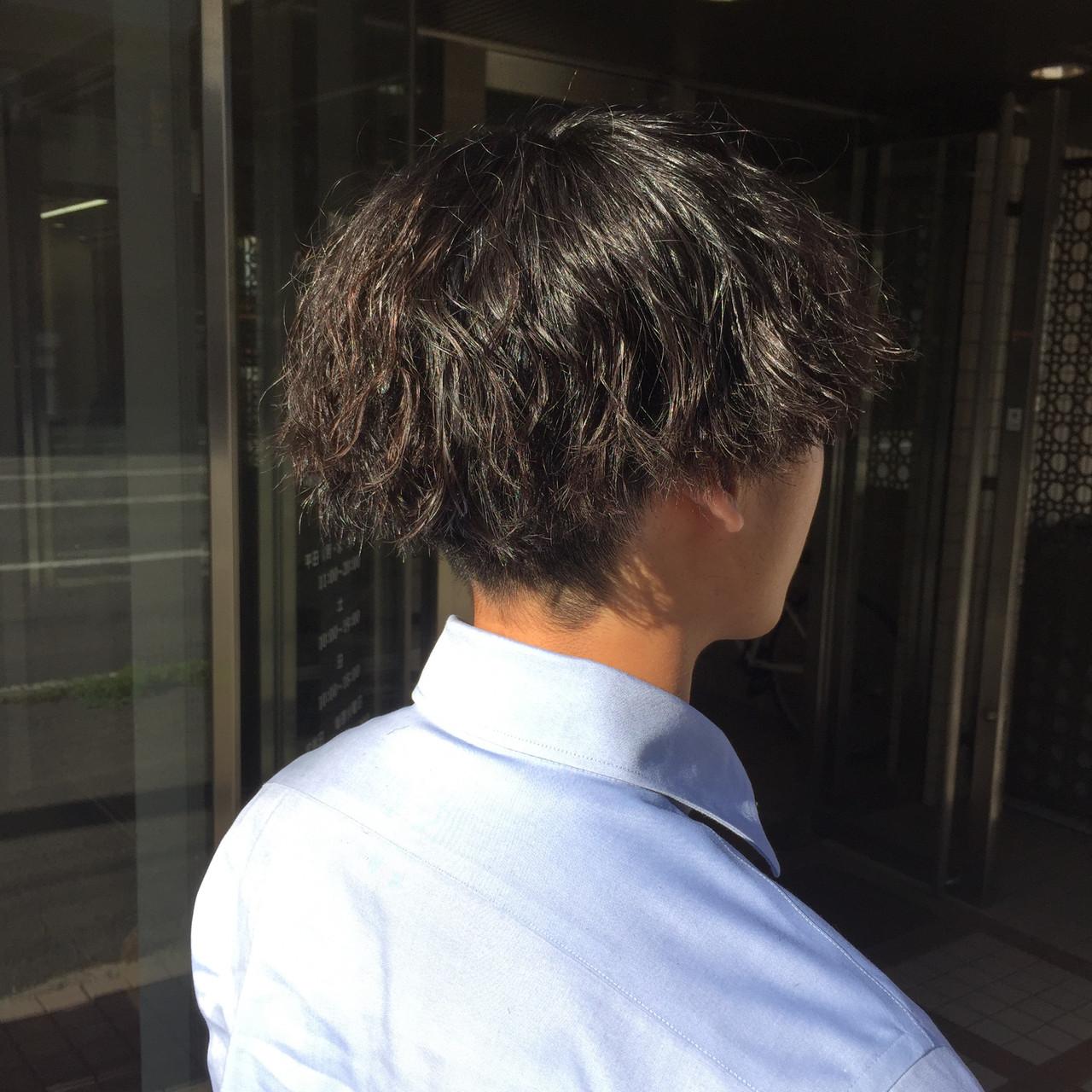 ストリート メンズパーマ ショート メンズヘア ヘアスタイルや髪型の写真・画像