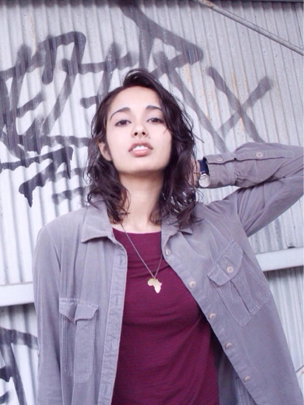 セミロング グラデーションカラー アッシュ ストリート ヘアスタイルや髪型の写真・画像 | カラーリスト・YuuKi Sekimoto / wherever