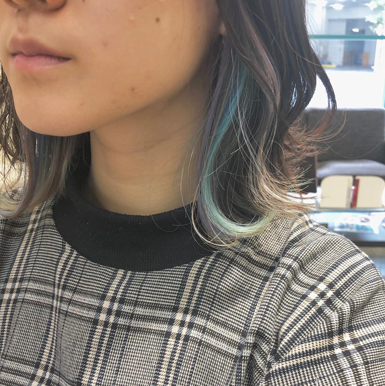 ハイライト ヘアアレンジ レイヤー ナチュラル ヘアスタイルや髪型の写真・画像