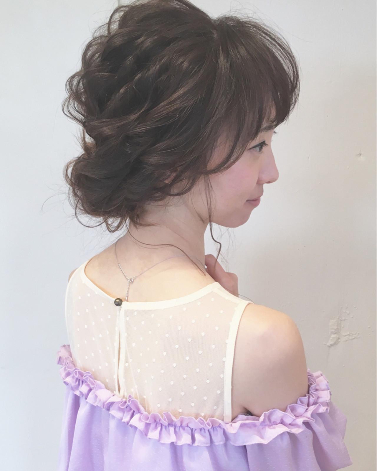 大人かわいい ヘアアレンジ 結婚式 ロング ヘアスタイルや髪型の写真・画像