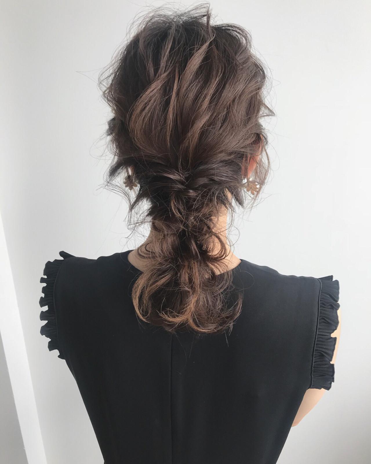 ヘアアレンジ ナチュラル デート パーティ ヘアスタイルや髪型の写真・画像   YUJI / LIICHI / LIICHI (リイチ)