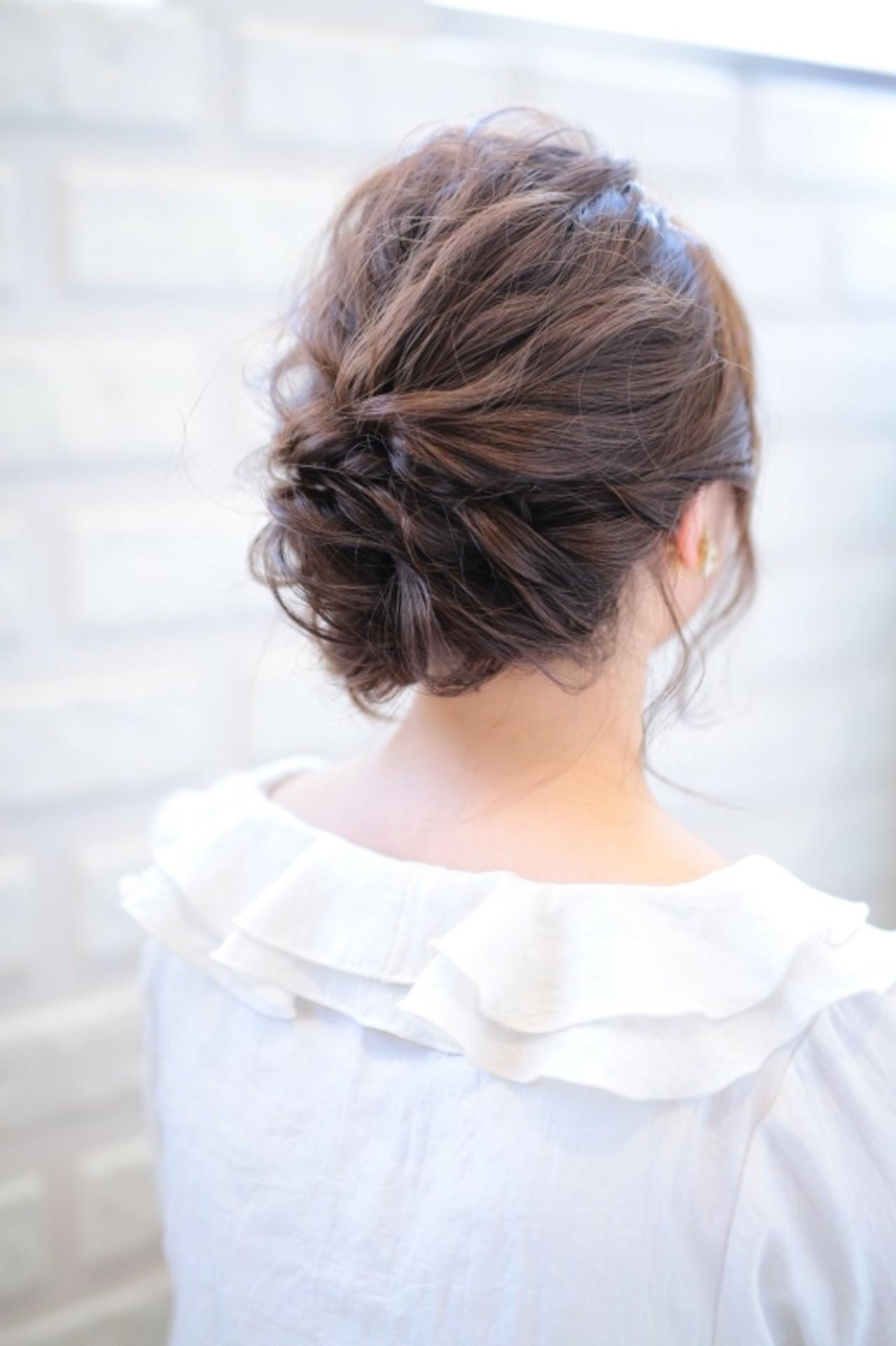 オフィス ヘアアレンジ ナチュラル ルーズ ヘアスタイルや髪型の写真・画像   asuka /