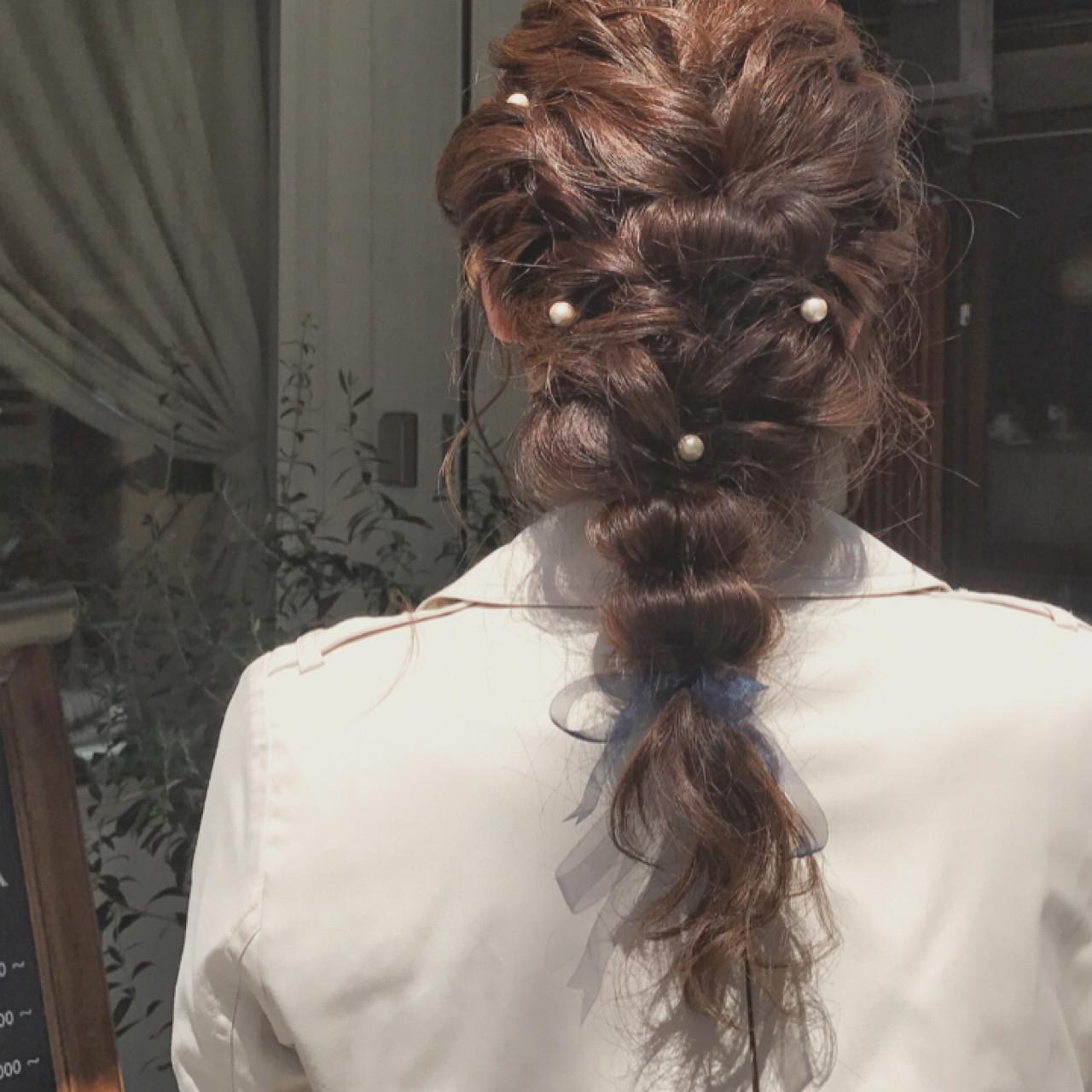 ヘアアレンジ ロング 結婚式 パーティ ヘアスタイルや髪型の写真・画像