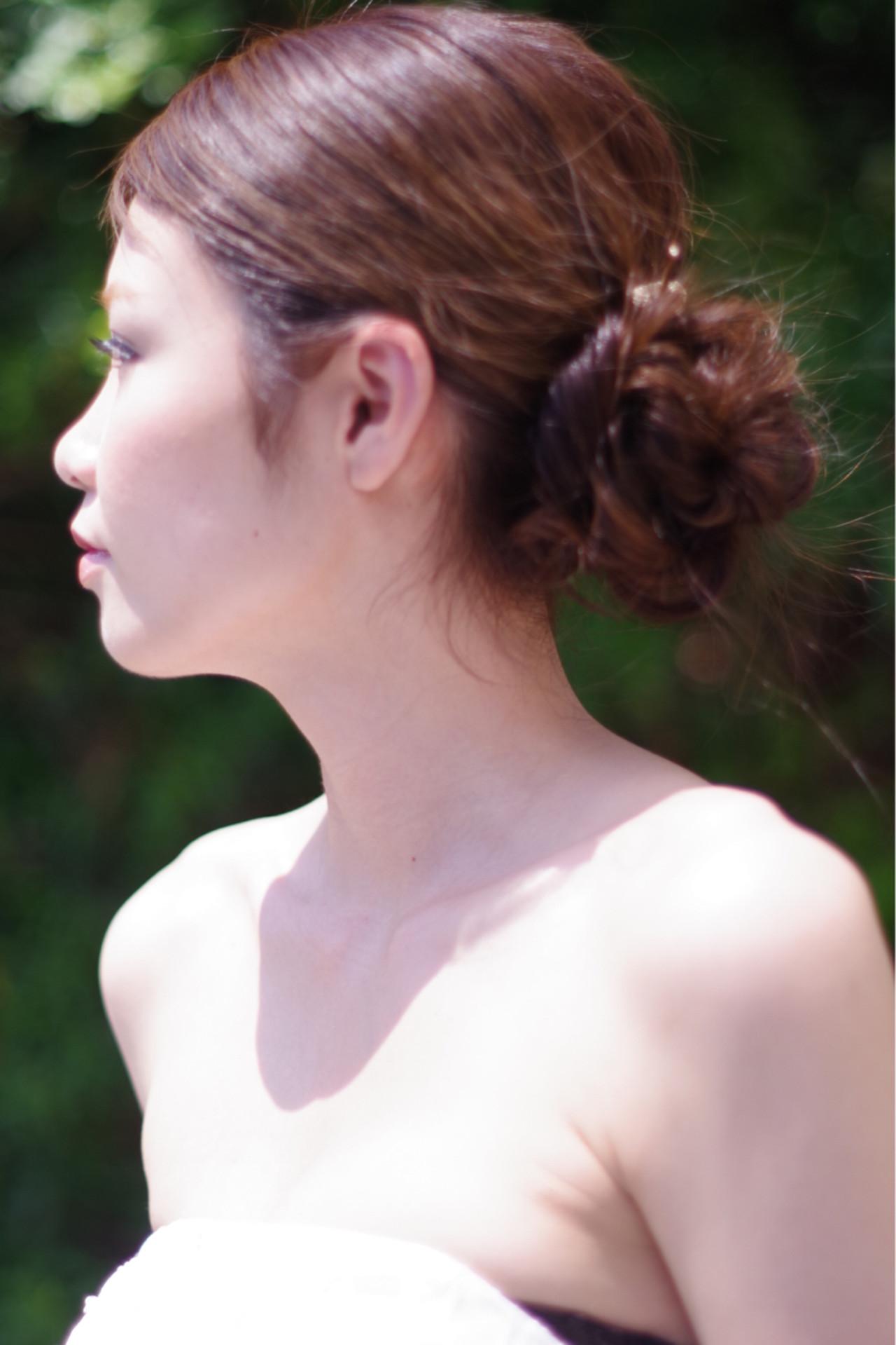 ロング 涼しげ 結婚式 夏 ヘアスタイルや髪型の写真・画像 | ken / sora