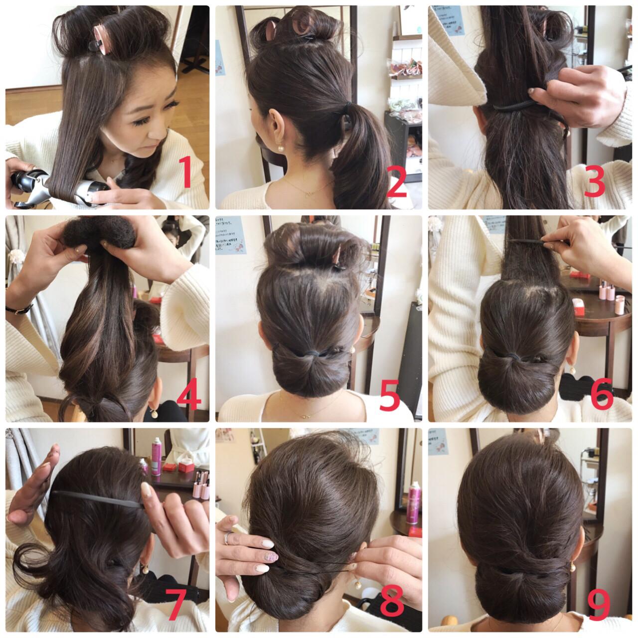 謝恩会 上品 大人女子 小顔 ヘアスタイルや髪型の写真・画像 | Moriyama Mami / 福岡天神ヘアセット・着付け専門店【Three-keys】