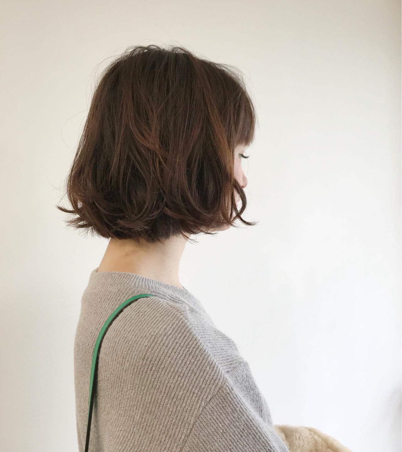 デート パーマ ボブ 外国人風カラー ヘアスタイルや髪型の写真・画像