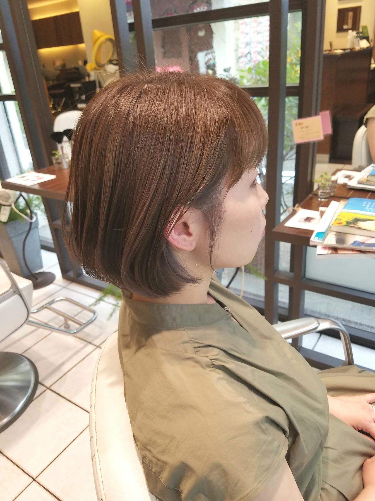 夏 インナーカラー オフィス ブリーチ ヘアスタイルや髪型の写真・画像   松田 拓也 / Xanadu 甲子園店