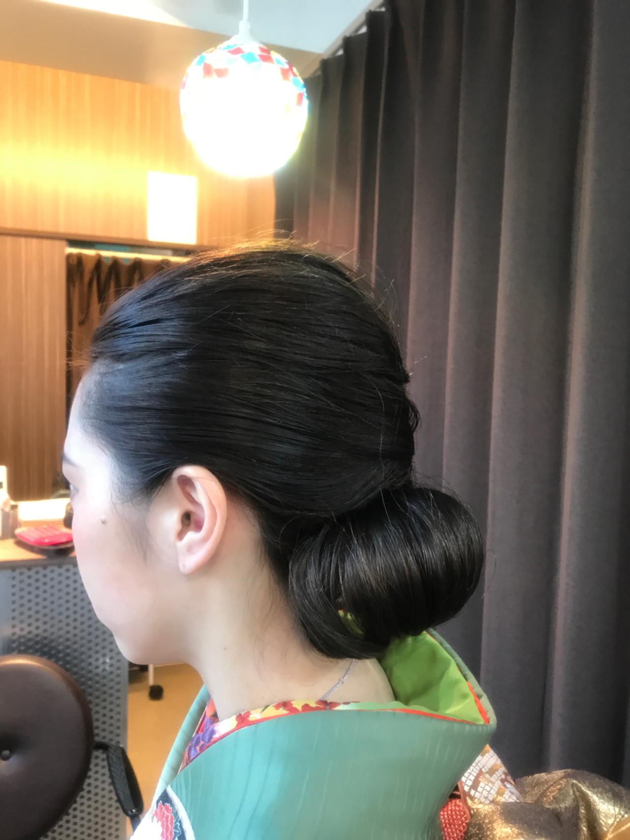 上品 エレガント ミディアム 振袖 ヘアスタイルや髪型の写真・画像