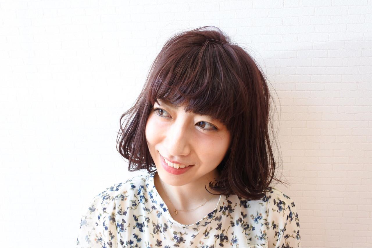色気 フェミニン 外ハネ 切りっぱなし ヘアスタイルや髪型の写真・画像 | 中川雄貴 / hair salon Ciel