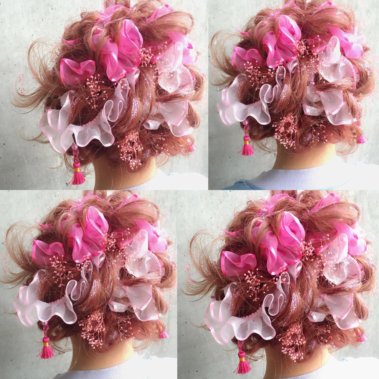 ゆるふわ ハーフアップ ショート ミディアム ヘアスタイルや髪型の写真・画像 | MOTAI / Wille / Wille