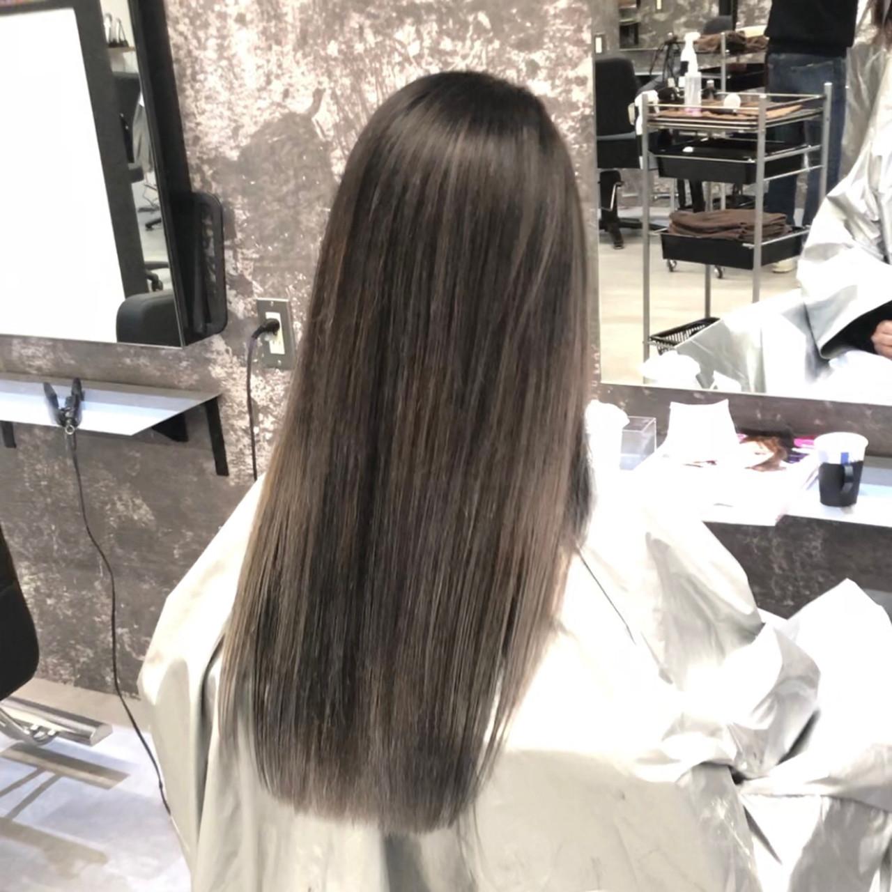 ロング 外国人風 外国人風カラー バレイヤージュ ヘアスタイルや髪型の写真・画像   アンドウ ユウ / agu hair edge
