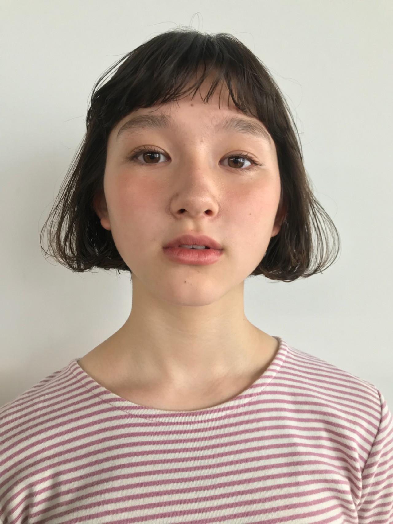 前髪あり 抜け感 ボブ ナチュラル ヘアスタイルや髪型の写真・画像 | 東峰 愛 / nanuk shibuya