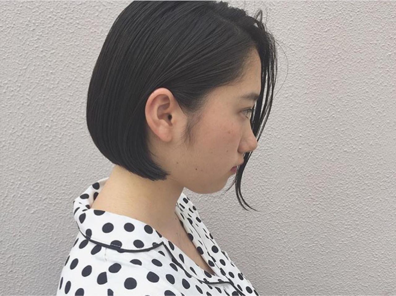 オフィス ナチュラル ハイライト 黒髪 ヘアスタイルや髪型の写真・画像   KENTO.NOESALON / NOE SALON