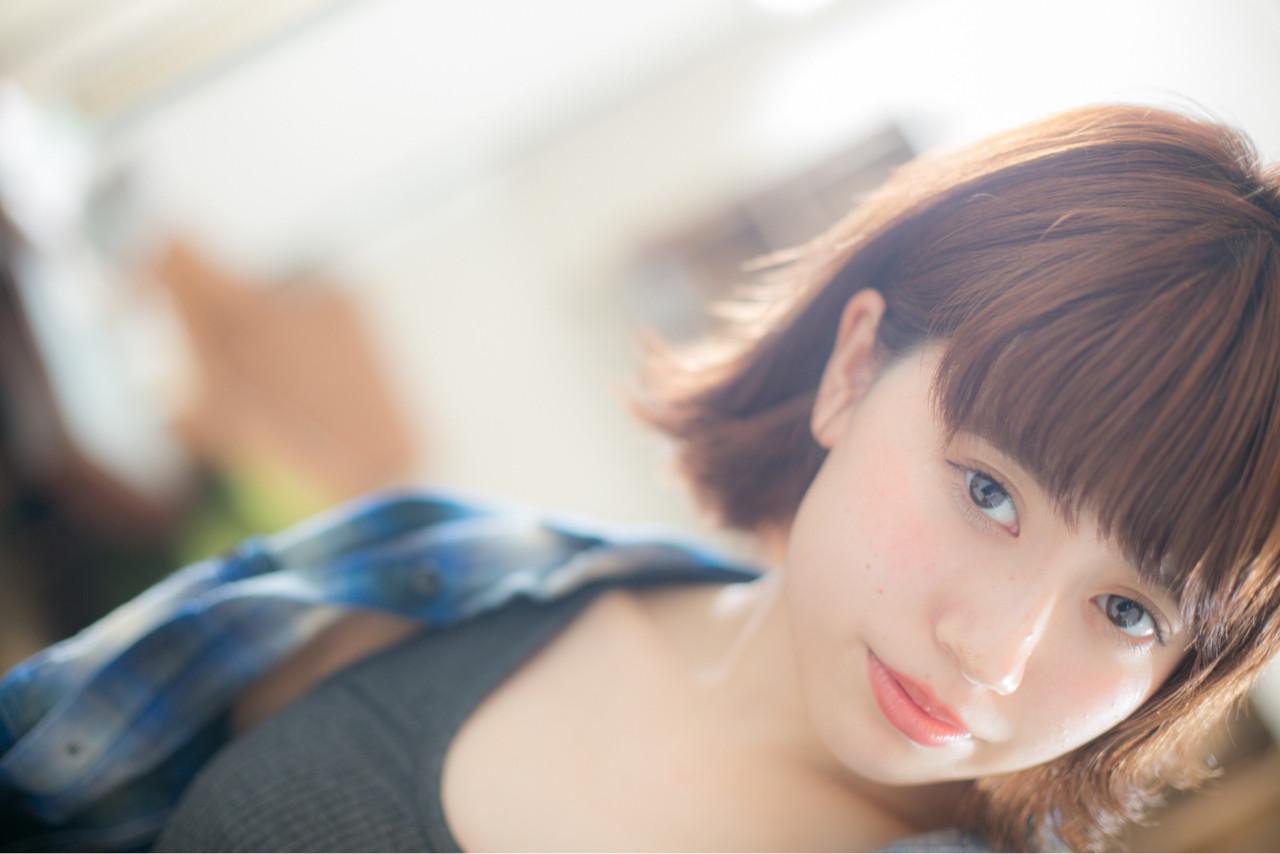 フェミニン ガーリー 外国人風 ボブ ヘアスタイルや髪型の写真・画像 | 山岡 砂矢夏 /