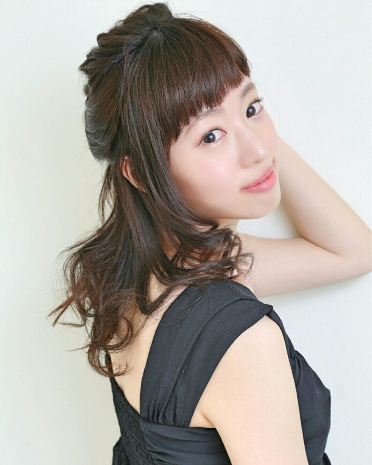 セミロング ピュア フェミニン 大人かわいい ヘアスタイルや髪型の写真・画像 | いまい えりな /