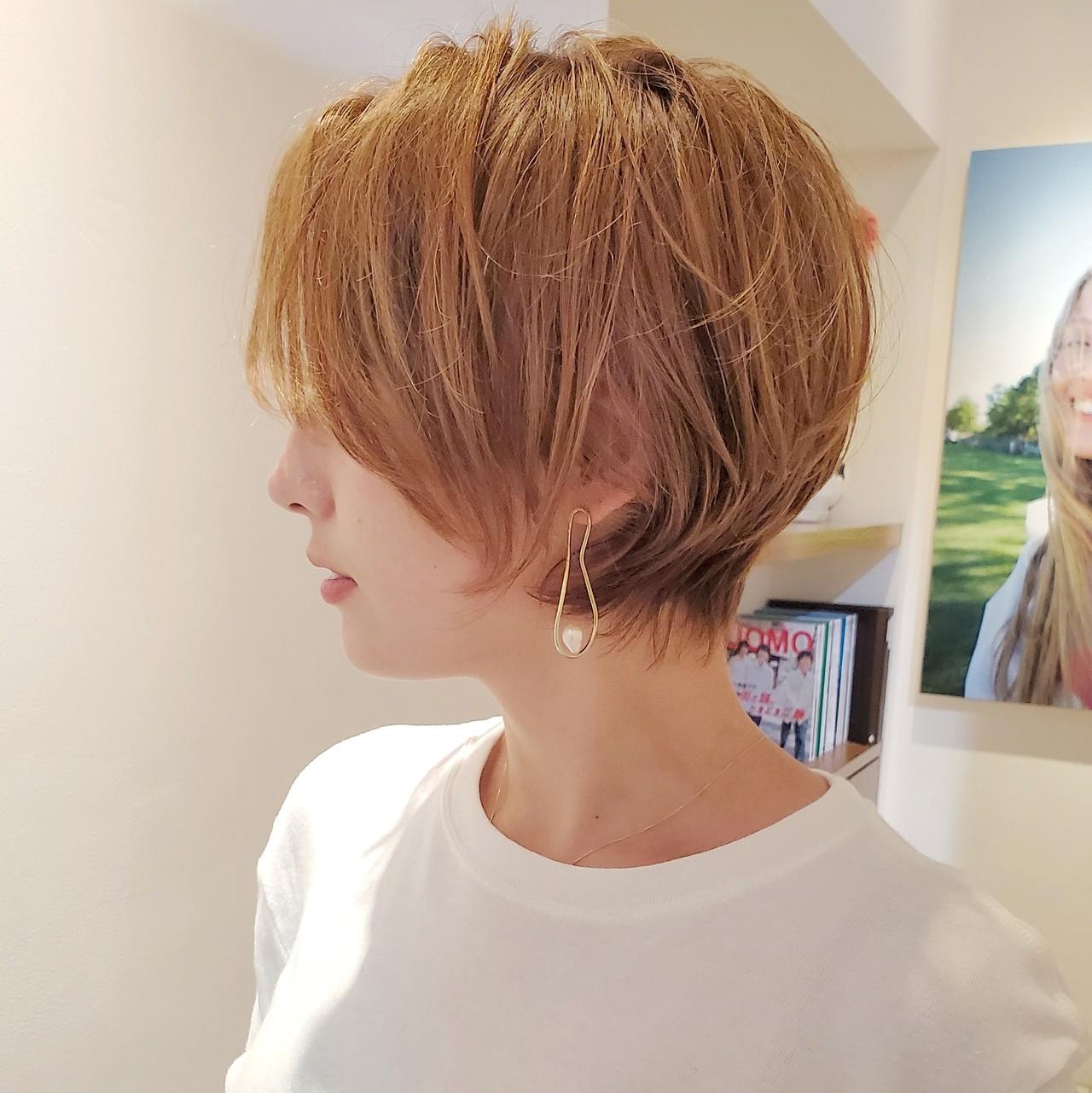 簡単ヘアアレンジ デート ヘアアレンジ ショート ヘアスタイルや髪型の写真・画像 | 中高下 由真(なかこうげ ゆうま) / BEAUTRIUM 表参道店