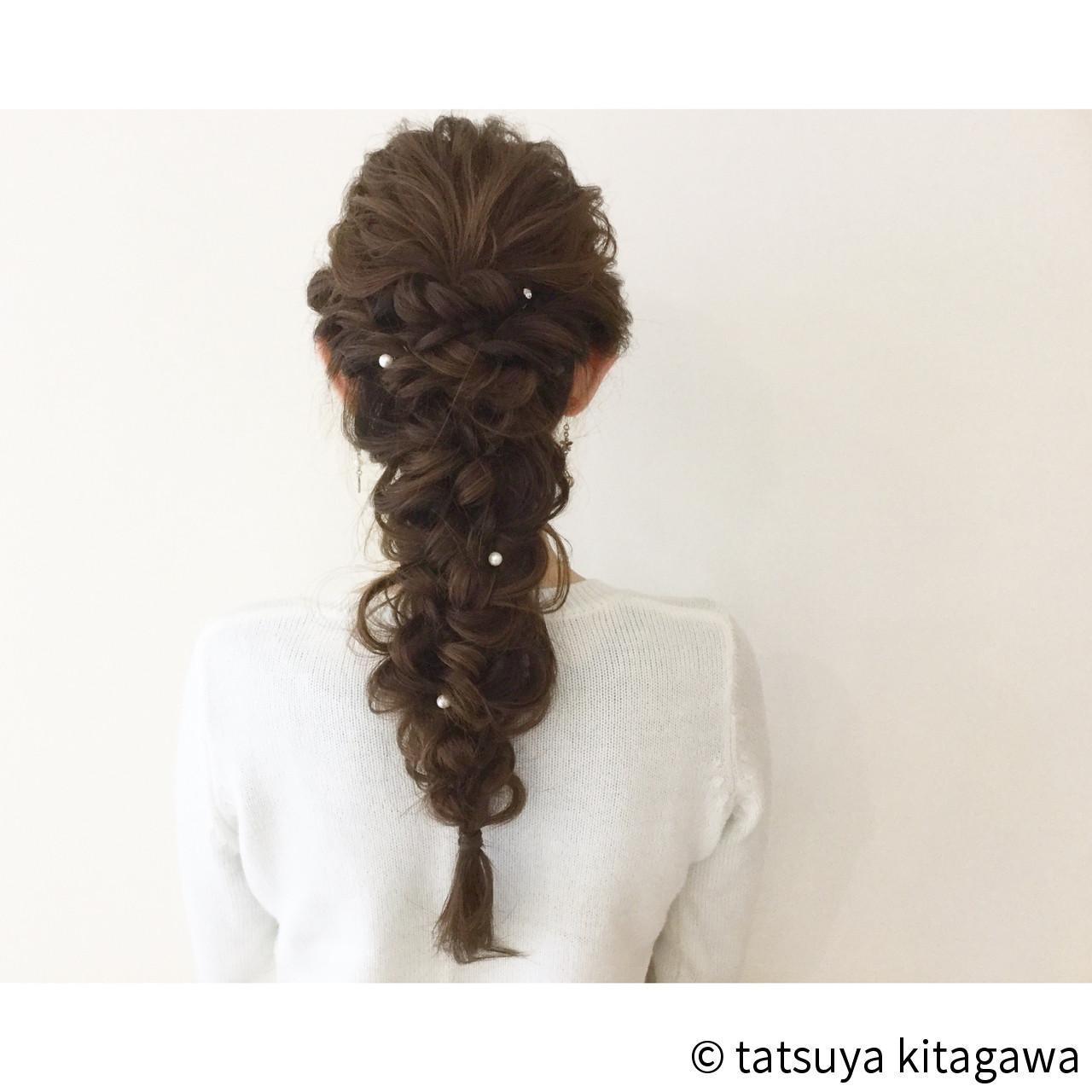 外国人風 ヘアアレンジ 結婚式 簡単ヘアアレンジ ヘアスタイルや髪型の写真・画像