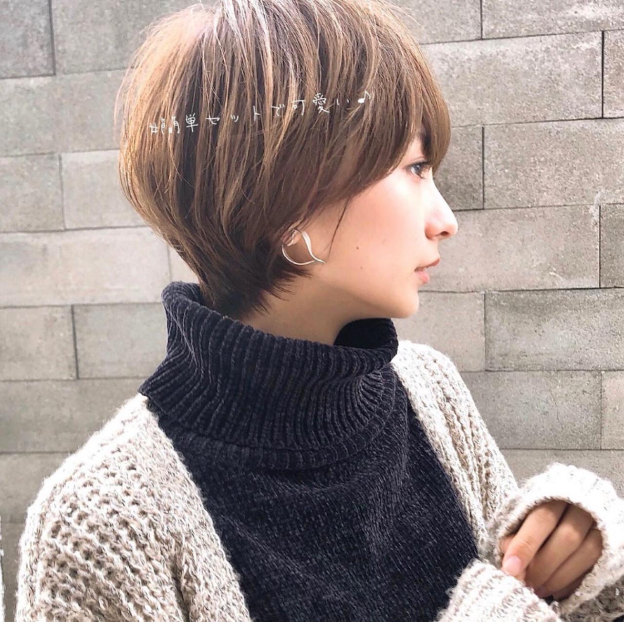丸みショート ショートヘア アンニュイほつれヘア ショート ヘアスタイルや髪型の写真・画像 | 大上海人 / LAS omotesando