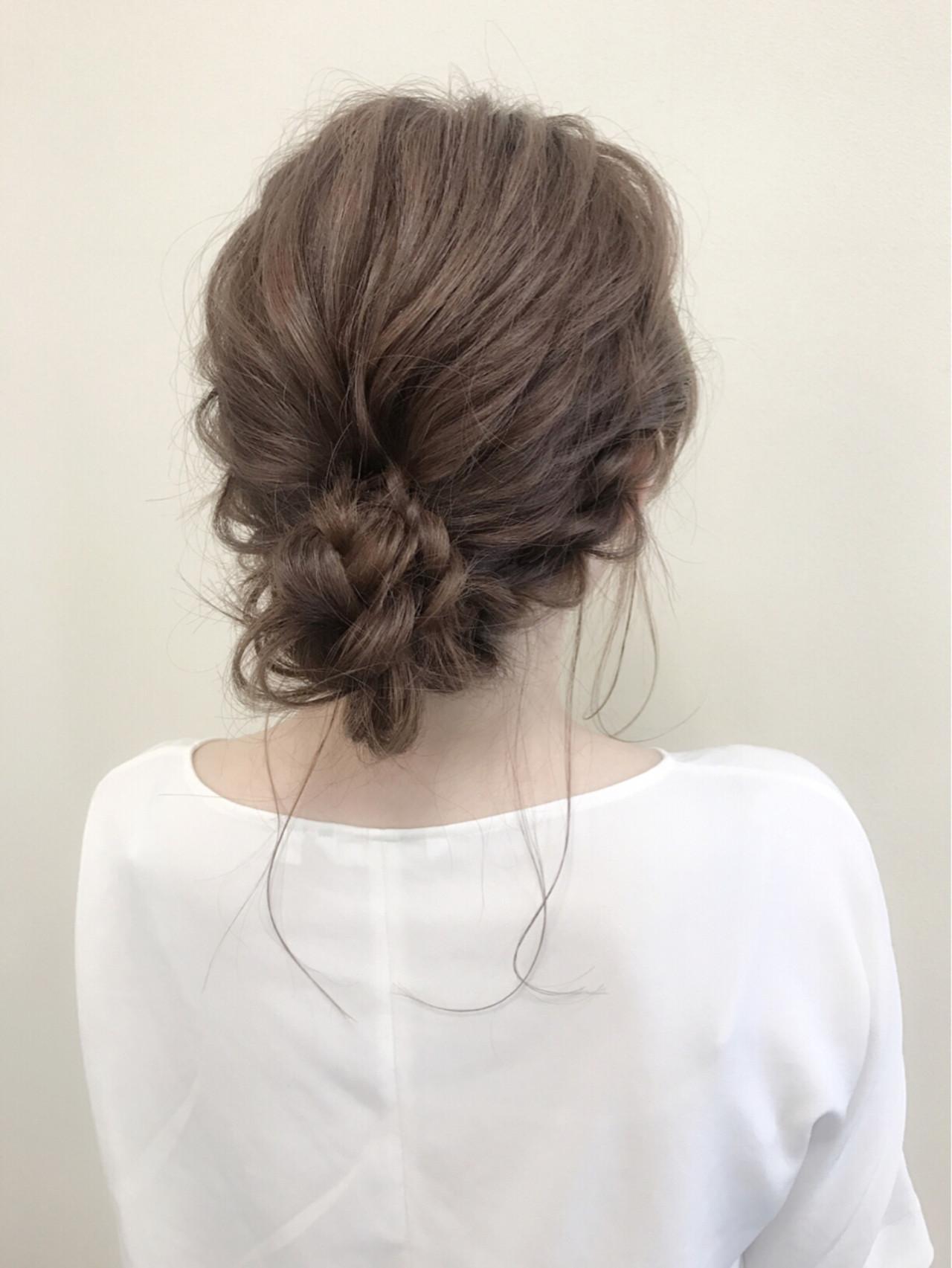 ロング フェミニン 大人女子 結婚式 ヘアスタイルや髪型の写真・画像