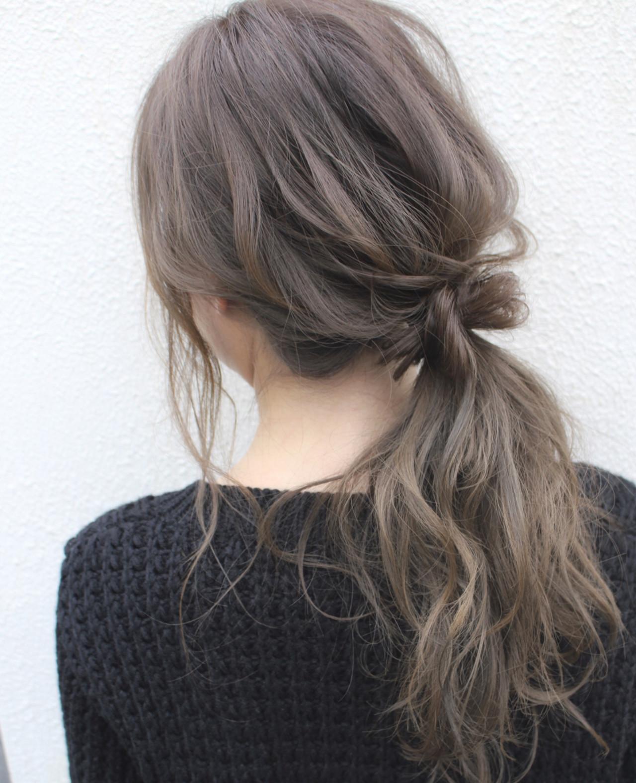 抜け感 ナチュラル デート セミロング ヘアスタイルや髪型の写真・画像 | サワ / Seamu
