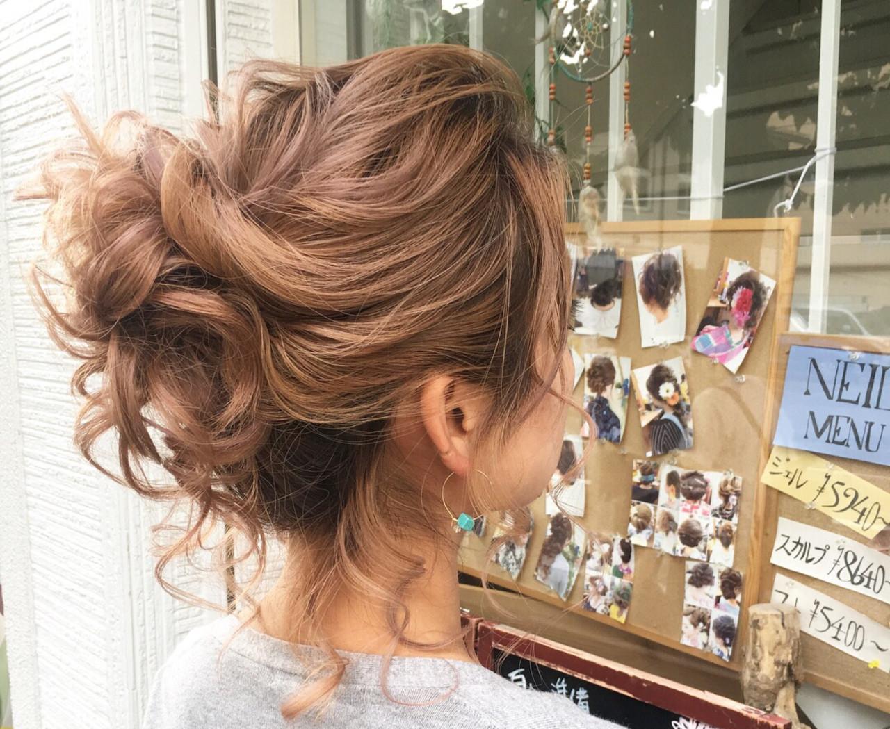 ヘアアレンジ デート ミディアム ナチュラル ヘアスタイルや髪型の写真・画像 | さとみ / e'clat