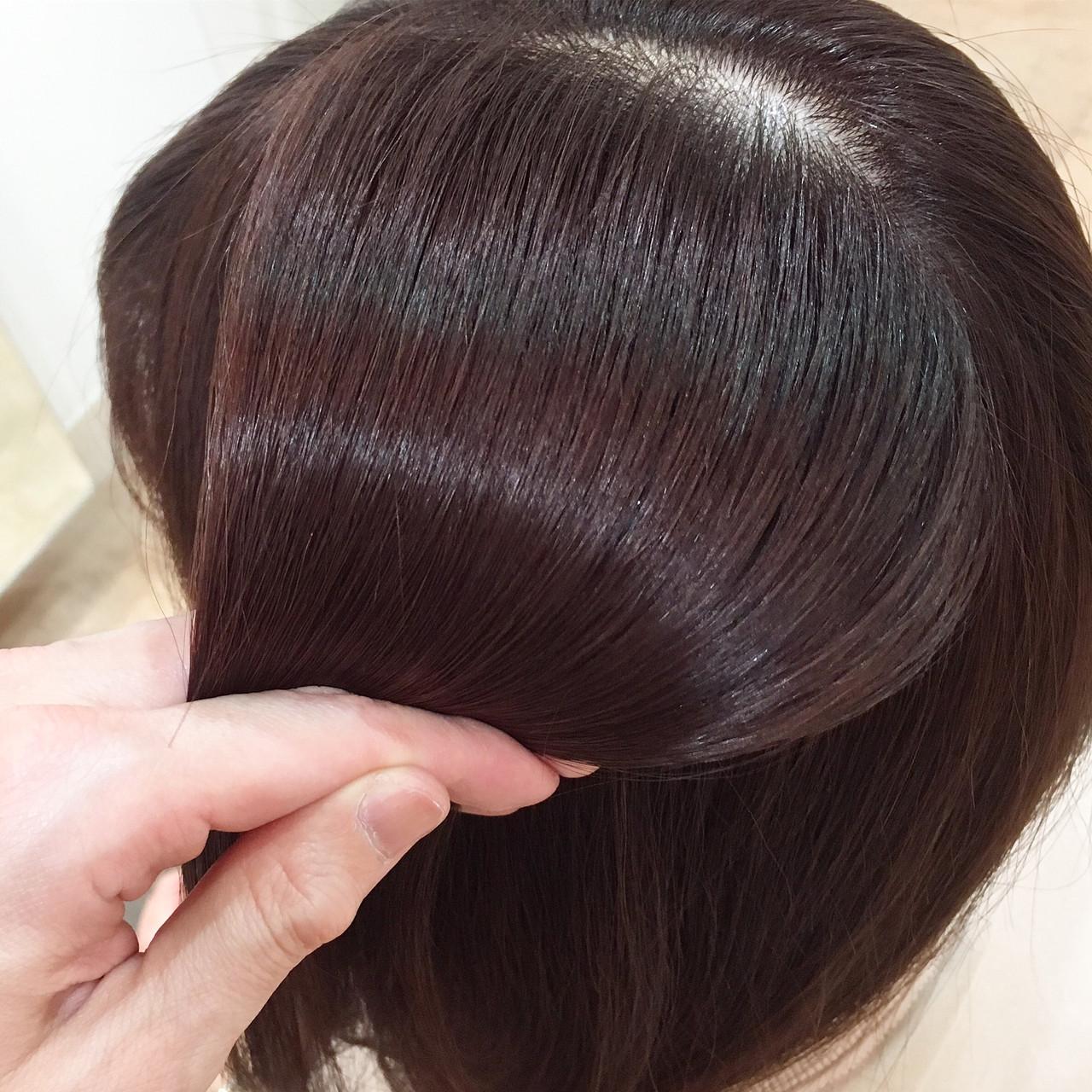 ツヤ髪 フェミニン オフィス ピンク ヘアスタイルや髪型の写真・画像