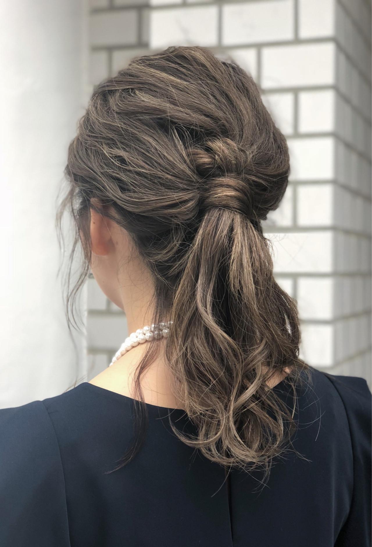 ヘアアレンジ ミディアム ポニーテール 外国人風 ヘアスタイルや髪型の写真・画像 | 我妻大地 GREEK / GREEK Hair Design