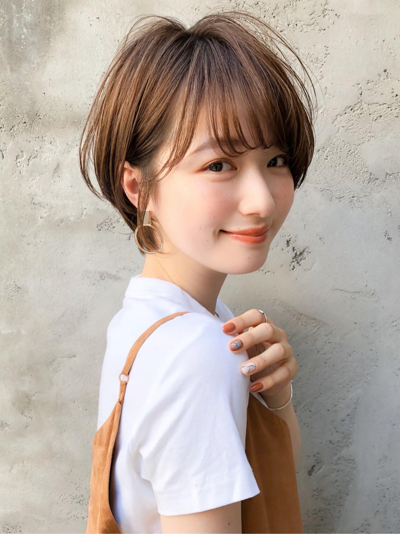 アッシュブラウン ショコラブラウン アッシュ ミニボブ ヘアスタイルや髪型の写真・画像 | 原田 実茄 / Agnos 青山