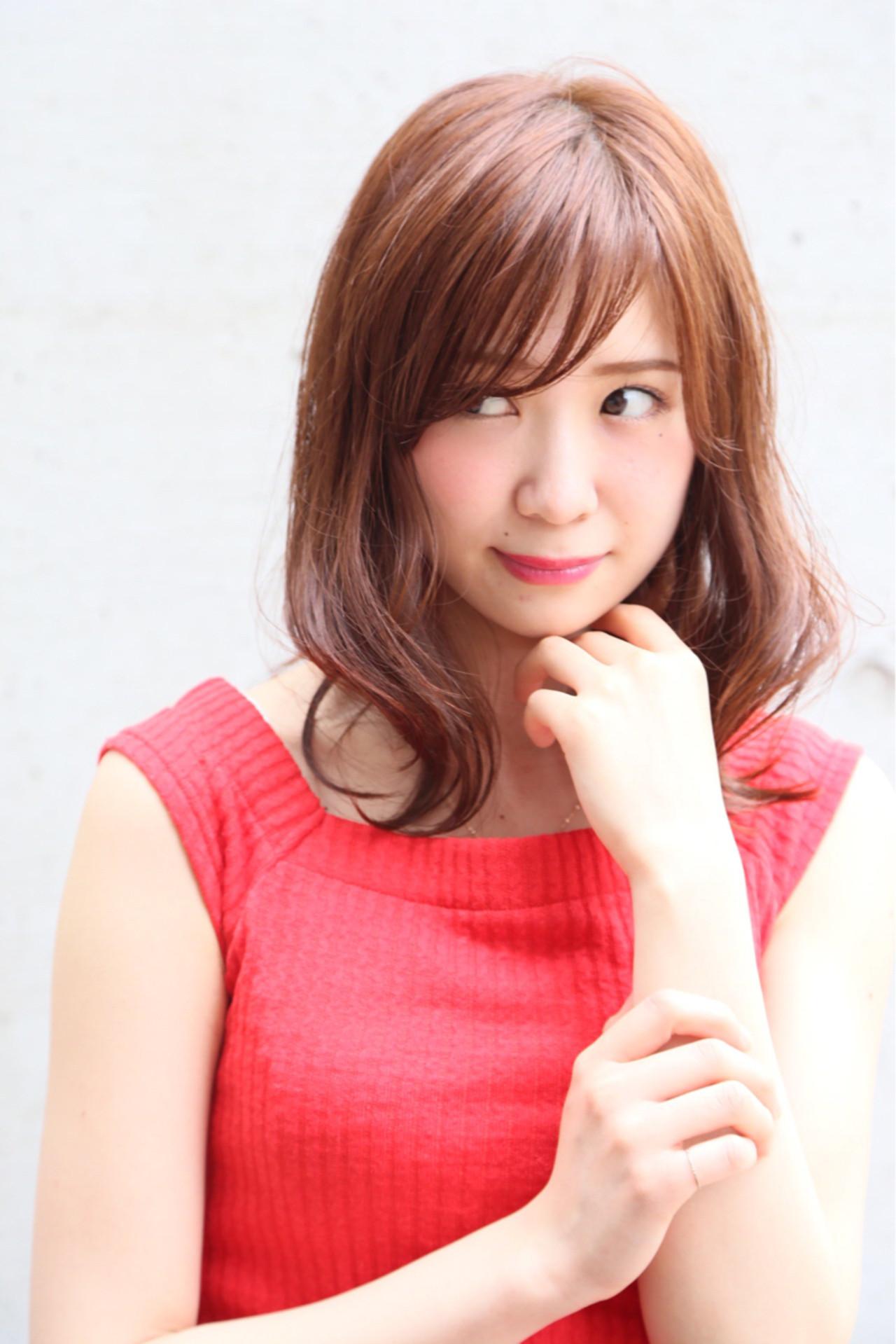 ナチュラル アッシュベージュ ミルクティー ミディアム ヘアスタイルや髪型の写真・画像 | Mayu / a