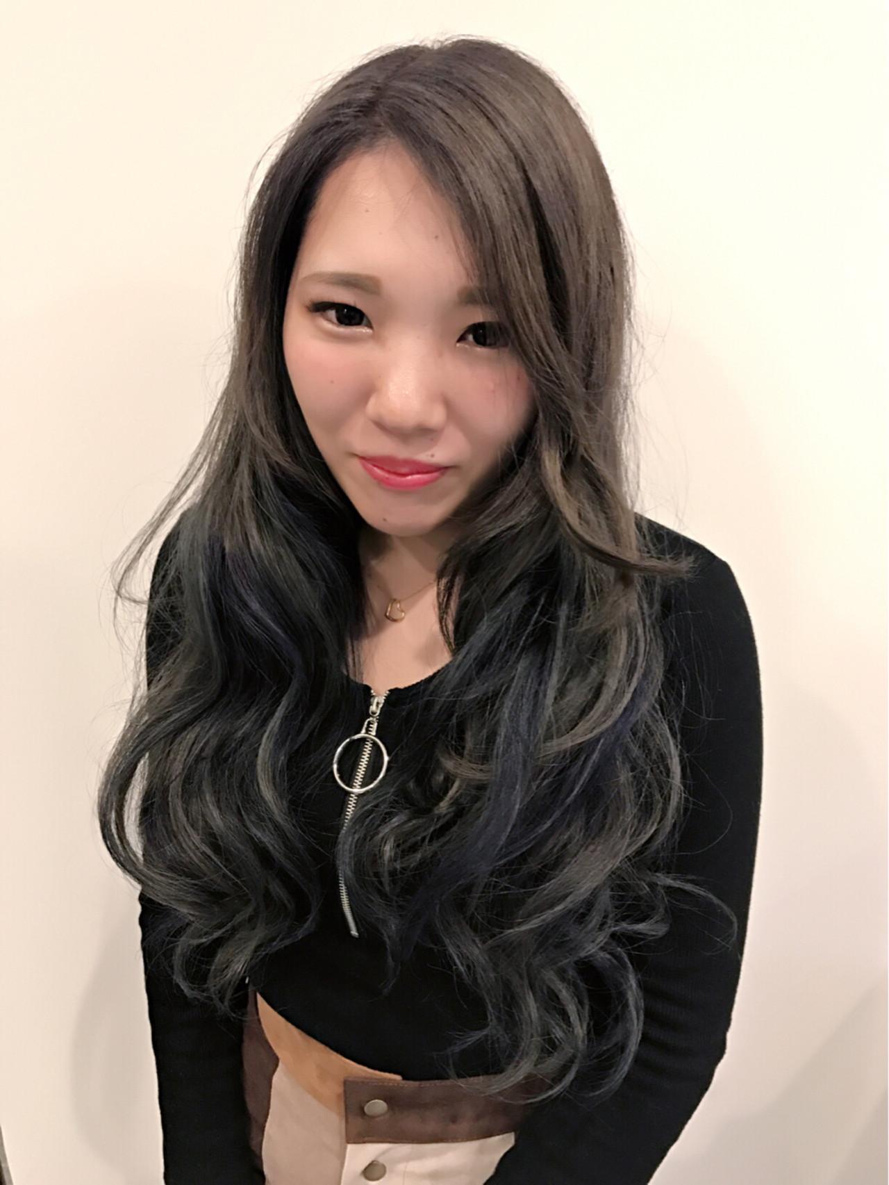 フェミニン ロング ダブルカラー 外国人風カラー ヘアスタイルや髪型の写真・画像