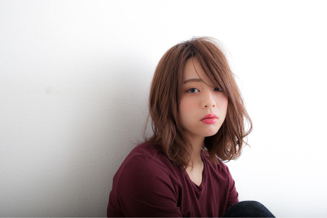 パーマ ミディアム 外国人風 ゆるふわ ヘアスタイルや髪型の写真・画像 | 高田 紘希 / Rr hair salon
