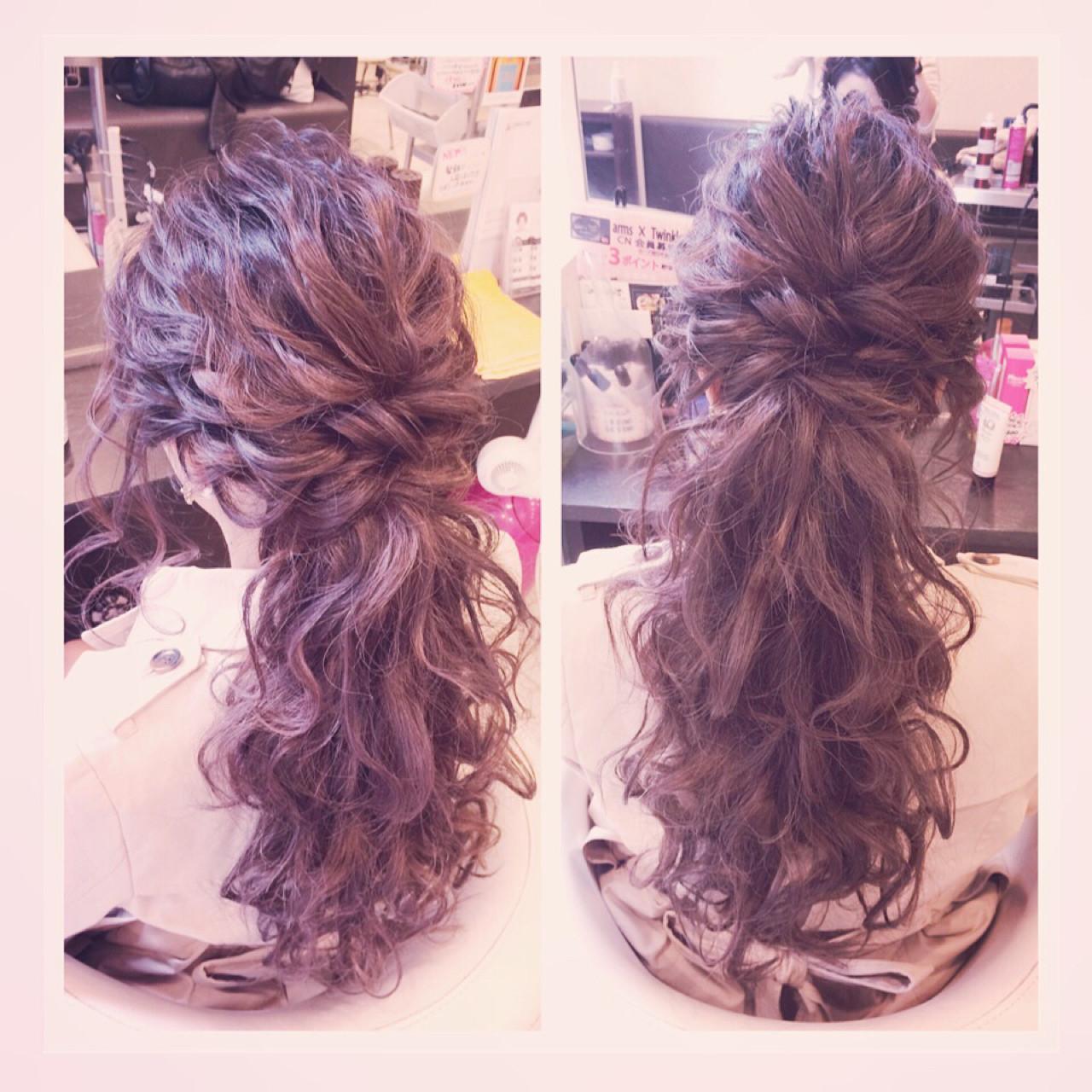 ヘアアレンジ 大人かわいい ポニーテール ルーズ ヘアスタイルや髪型の写真・画像 | aoi / hair make laule'a