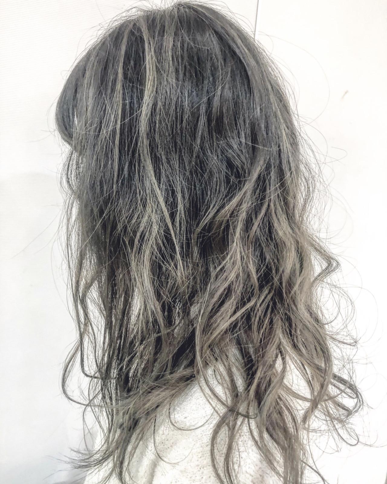 アディクシーカラー ナチュラル セミロング 大人ハイライト ヘアスタイルや髪型の写真・画像 | 米崎勇 / felicita