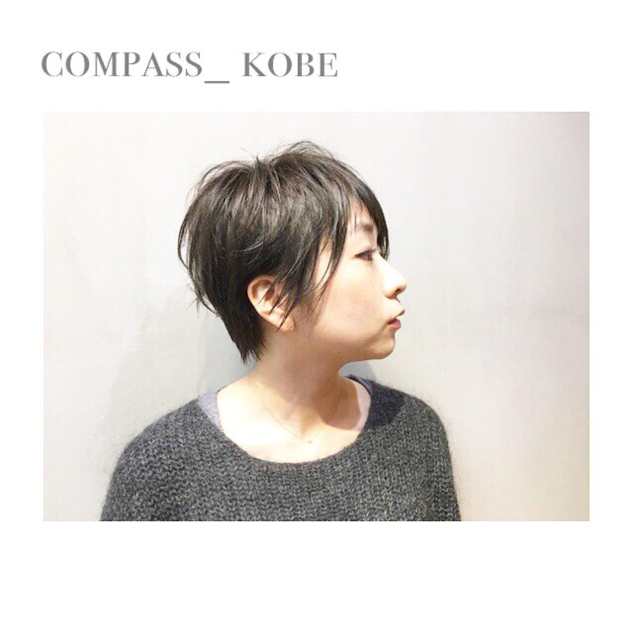 クールなショートヘア × カーキアッシュ ☆